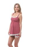 Пижама для беременных и кормящих 09988 кофейный