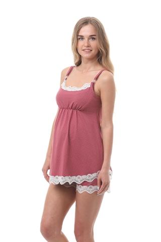 Пижама для беременных и кормящих 09988 бордовый