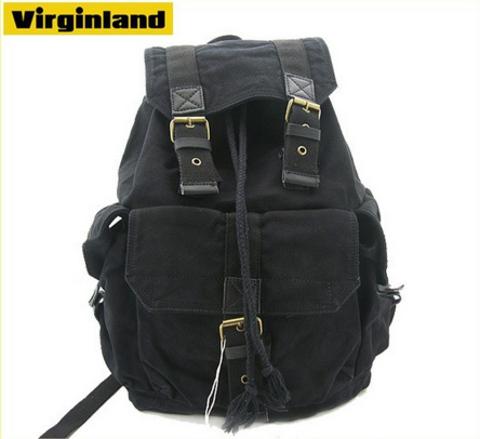 Винтажный рюкзак из ткани Virginland 55 Black