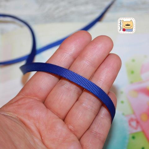 Лента репсовая 6мм (синяя) ЛР6-35