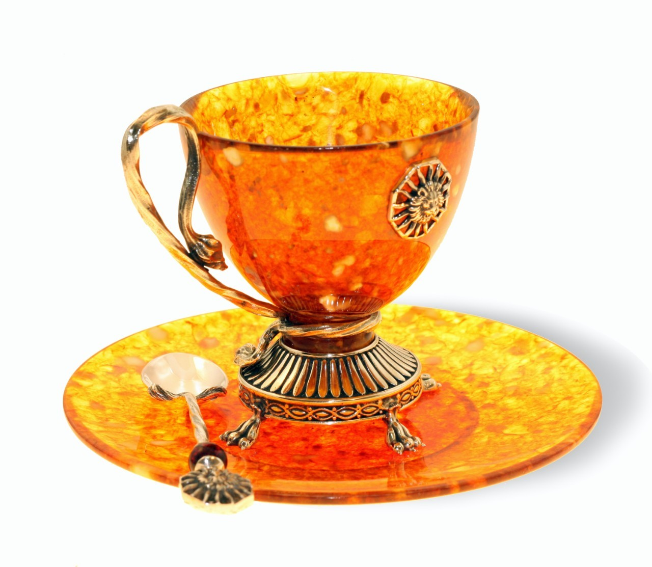 "Янтарная чашка для чая, серия ""Лев"" - 3"