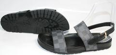 Мужские сандалии из натуральной кожи Louis Vuitton 1008 01Blak.