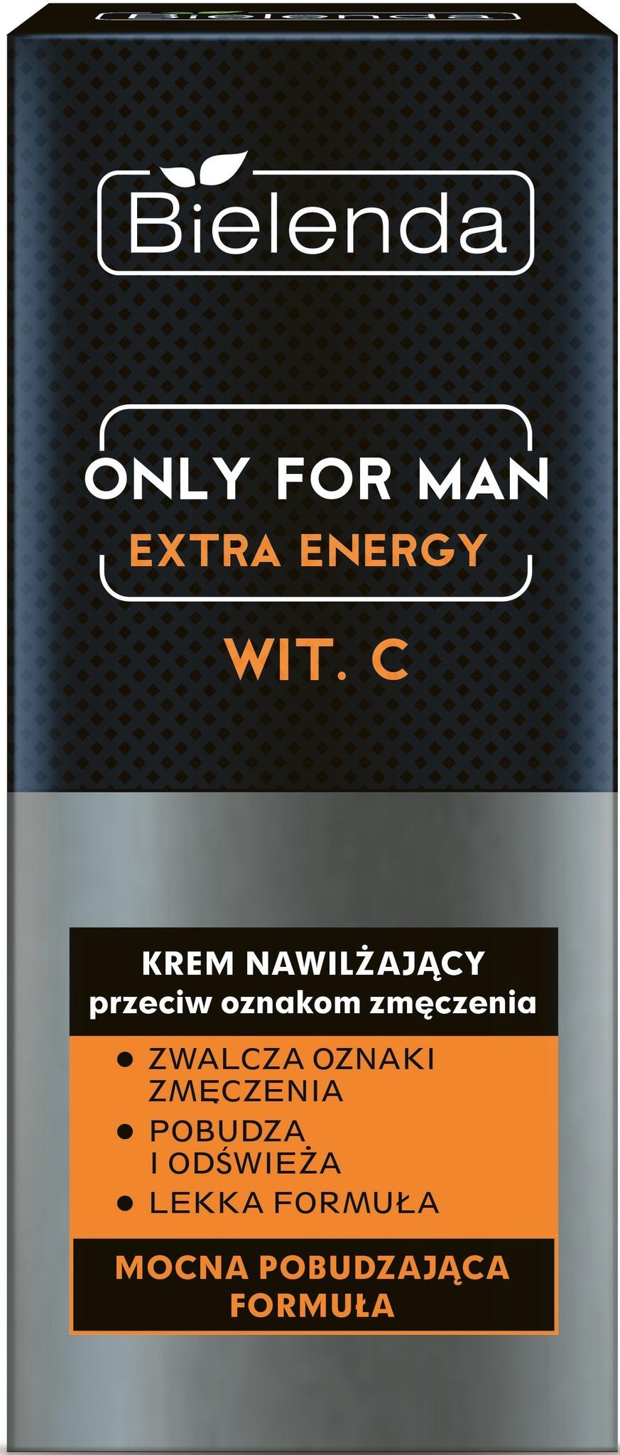 BIELENDA ONLY FOR MEN Увлажняющий крем EXTRA ENERGY 50мл