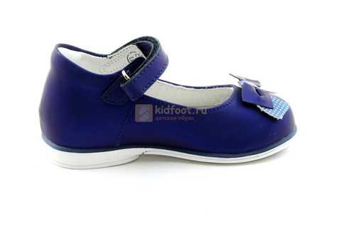 Туфли ELEGAMI (Элегами) из натуральной кожи для девочек, цвет темно синий металлик, артикул 7-83351003. Изображение 4 из 12.