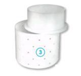 Круглая форма для сыра с крышкой (110 х 110 х 90 мм.)