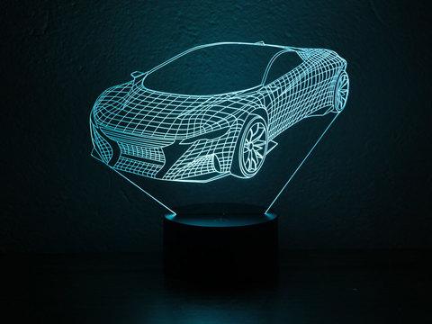 3D светильник Спорткар