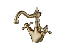 Смеситель для раковины Aksy Bagno Primavera-102-Bronze