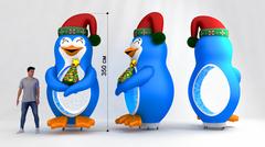 Надувной Пингвин с эффектом снега и подсветкой