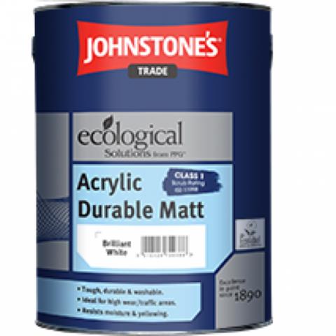 JOHNSTONE'S ACRYLIC DURABLE MATT/ДЖОНСТОУНС Акриловая высокопрочная краска для стен и потолков