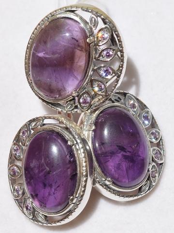 Софи  (кольцо + серьги из серебра)