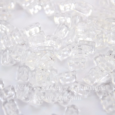 Бусина Trios Треугольник с 2 отверстиями, 6х4 мм, прозрачная