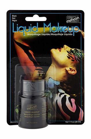 MEHRON Жидкий грим Liquid Makeup, Black (Черный), 30 мл