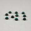 Кабошон круглый Чешское стекло, цвет - темно-зеленый, 3 мм, 10 штук