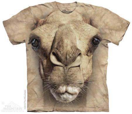 Футболка Mountain с изображением верблюда - Big Face Camel