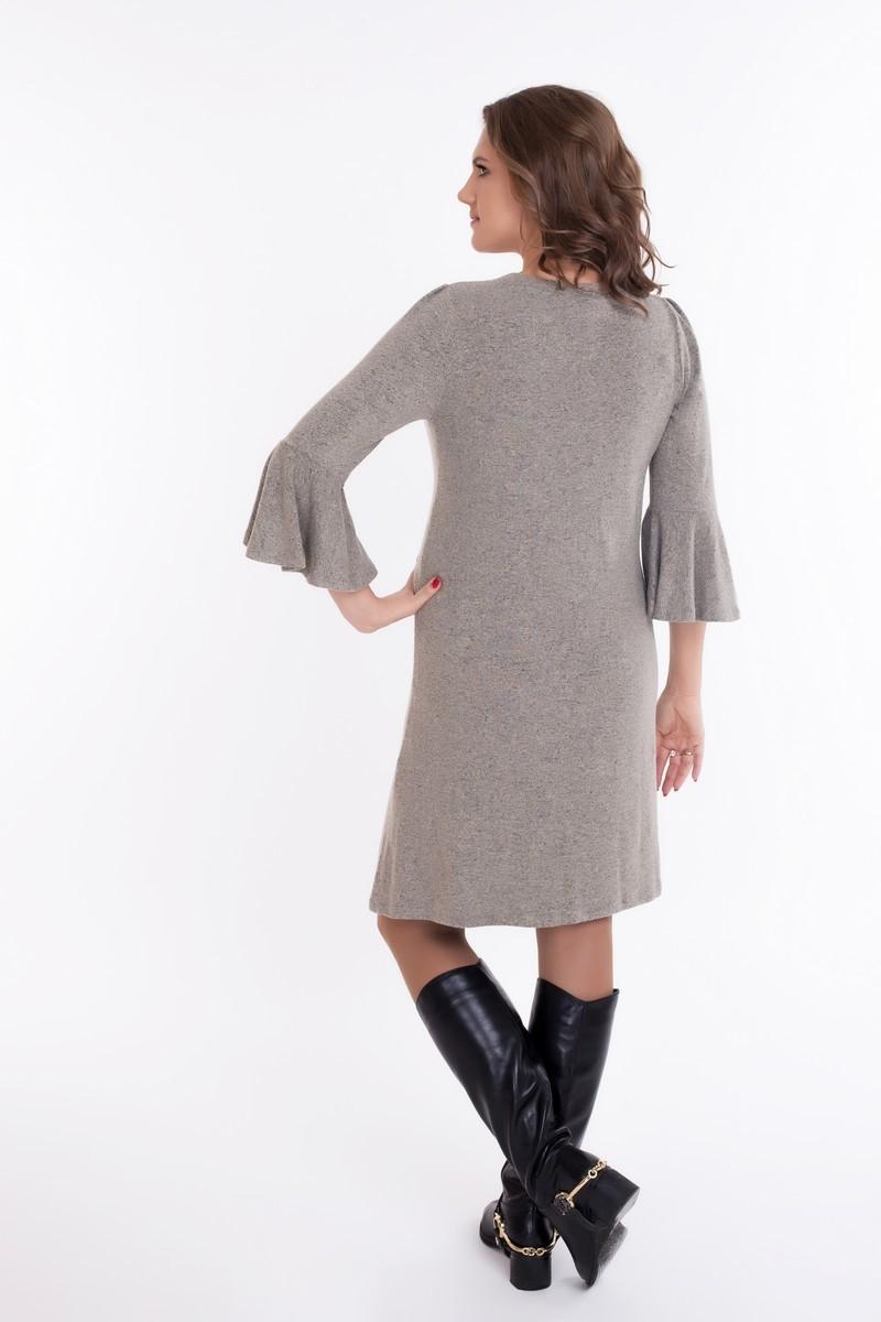 Платье для беременных и кормящих 09076 бежевый