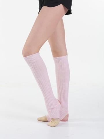 Гетры вязаные с вырезом под пятку для гимнастики  СОЛО(розовые)