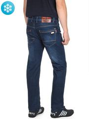917 джинсы мужские утепленные, синие