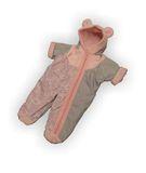 Комбинезон - Серый / розовый. Одежда для кукол, пупсов и мягких игрушек.