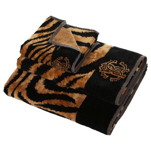 Полотенце 100х150 Roberto Cavalli Zebra Dark brown
