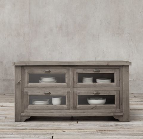 20th C. Salvaged Wood Kitchen Console