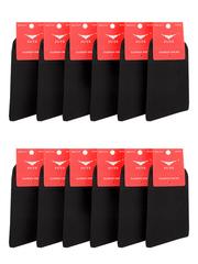 519 носки женские, черные 37-41 (12 шт)