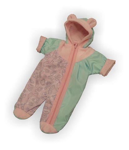 Комбинезон - Мята / розовый. Одежда для кукол, пупсов и мягких игрушек.