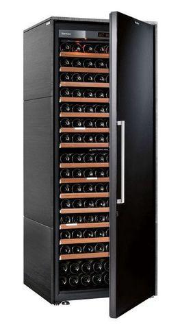Винный шкаф EuroCave S Collection L чёрный, сплошная дверь, максимальная комплектация