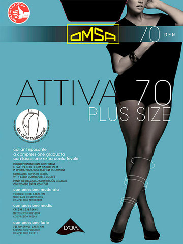 Колготки Attiva 70 XXL Plus Size Omsa
