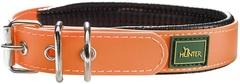 Ошейник для собак Hunter Convenience Comfort 40 (27-35 см)/2,4 см мягкая горловина водоотталкивающий материал, оранж неон