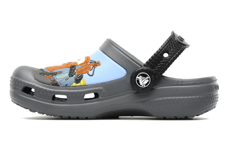 Сабо Крокс (Crocs) пляжные шлепанцы кроксы для мальчиков, цвет серый