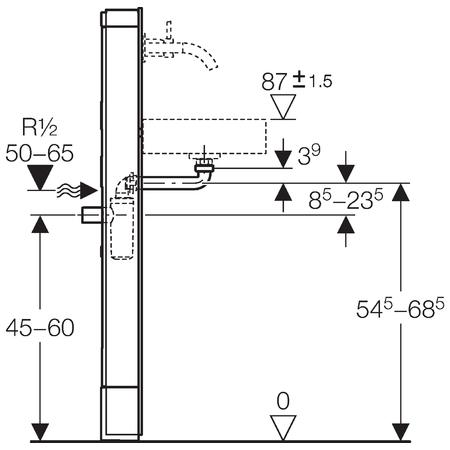 Сантехнический модуль для раковины Geberit Monolith 131.045.SQ.1