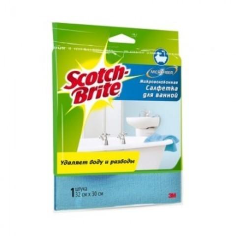 Салфетка Scotch-Brite для ванной микроволокно 300 г/м 30х32см 1 шт/уп