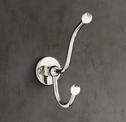 1900 Classic Double Robe Hook - White