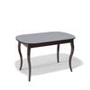 Стол кухонный KENNER 1300C, раздвижной, стекло серое, подстолье венге