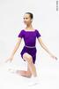 Комплект: купальник Футболка фиолетовый + юбка