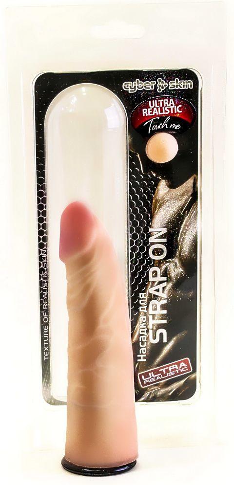 Трусики и насадки: Насадка-реалистик для страпона Харнесс - 17,5 см.