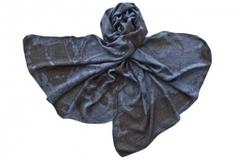 Палантин из вискозы синий 1326