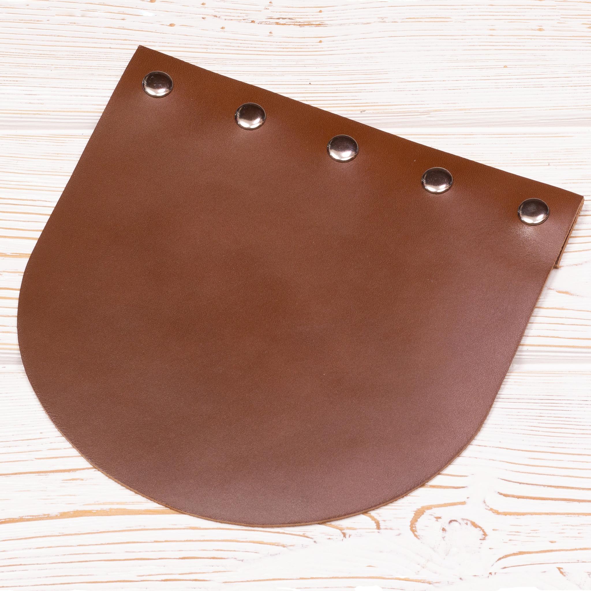 """Вся фурнитура Клапан для сумочки кожаный на заклепках """"Корица"""" IMG_2379.jpg"""