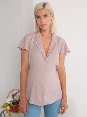 Евромама. Блуза для беременных и кормящих штапель в горошек, бежевый