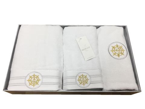 Набор полотенец  ELEGANGE - ЭЛЕГАНЗ  с ковриком кремовый Maison Dor (Турция)