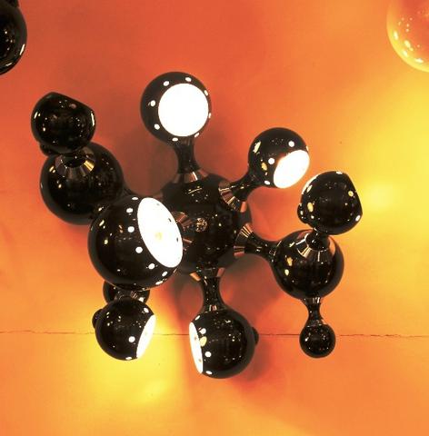 replica ATOMIC wall lamp ( black )
