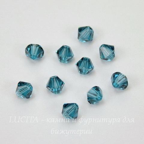 5328 Бусина - биконус Сваровски Indicolite 4 мм, 10 штук