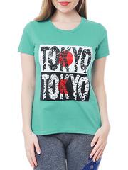 461134-10 футболка женская, зеленая