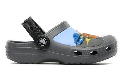 Сабо Крокс (Crocs) пляжные шлепанцы кроксы для мальчиков, цвет серый. Изображение 5 из 7.