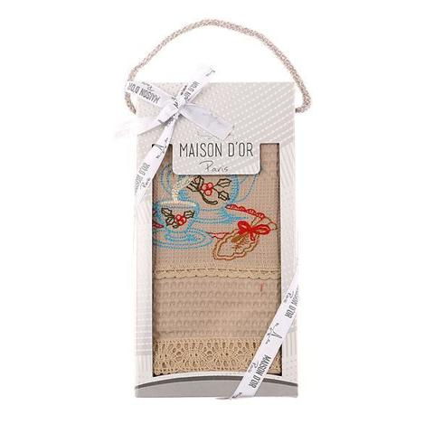 Полотенце вафельное 50х70 в коробке  ANATOLIA - АНАТОЛИЯ   Maison Dor  Турция