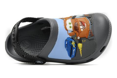 Сабо Крокс (Crocs) пляжные шлепанцы кроксы для мальчиков, цвет серый. Изображение 6 из 7.