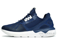Кроссовки Мужские Adidas Tubular Runner Premium Dark Blue White