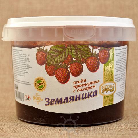 Земляника протертая с сахаром Ягода сибирская, 900г