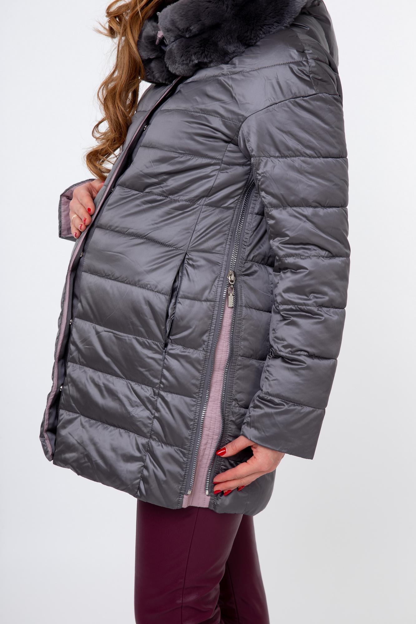 Куртка 09847 серо-розовый