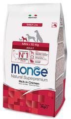 Monge Natural Superpremium Dog Mini adult полноценный корм для взрослых собак мелких пород до 10 кг с курицей и рисом